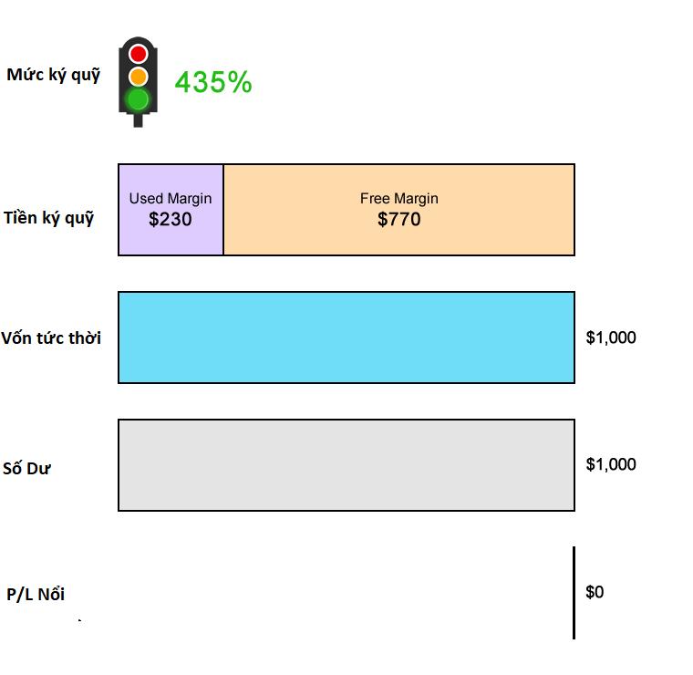 Giao dịch với Mức gọi ký quỹ là 100% Và không có Mức bị dừng giao dịch riêng biệt